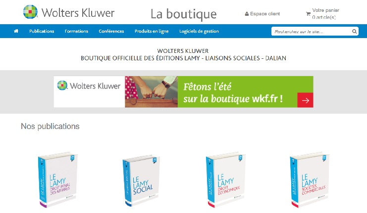 miniature La boutique Wolters Kluwer